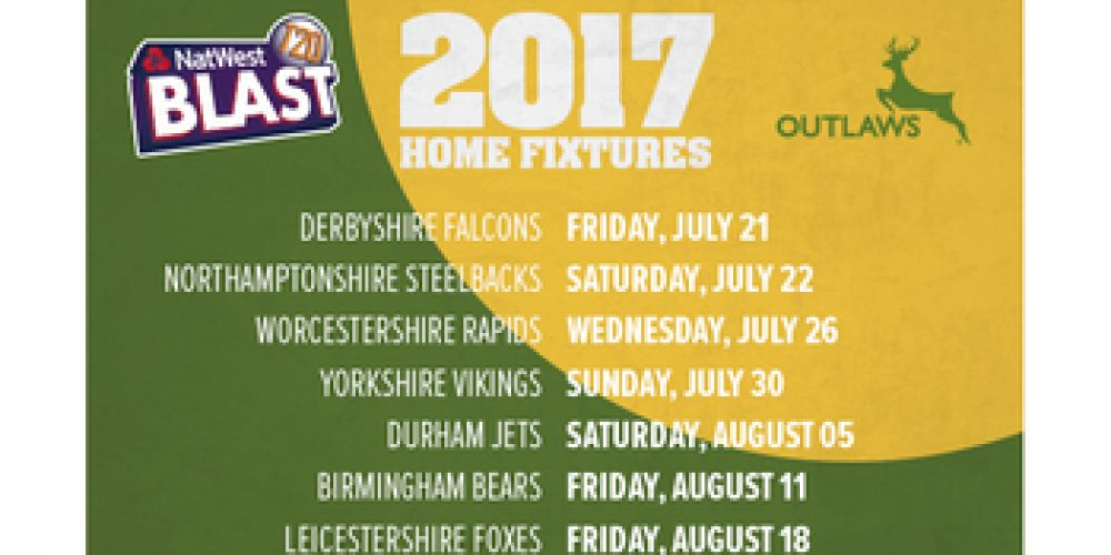 T20 Cricket home fixtures