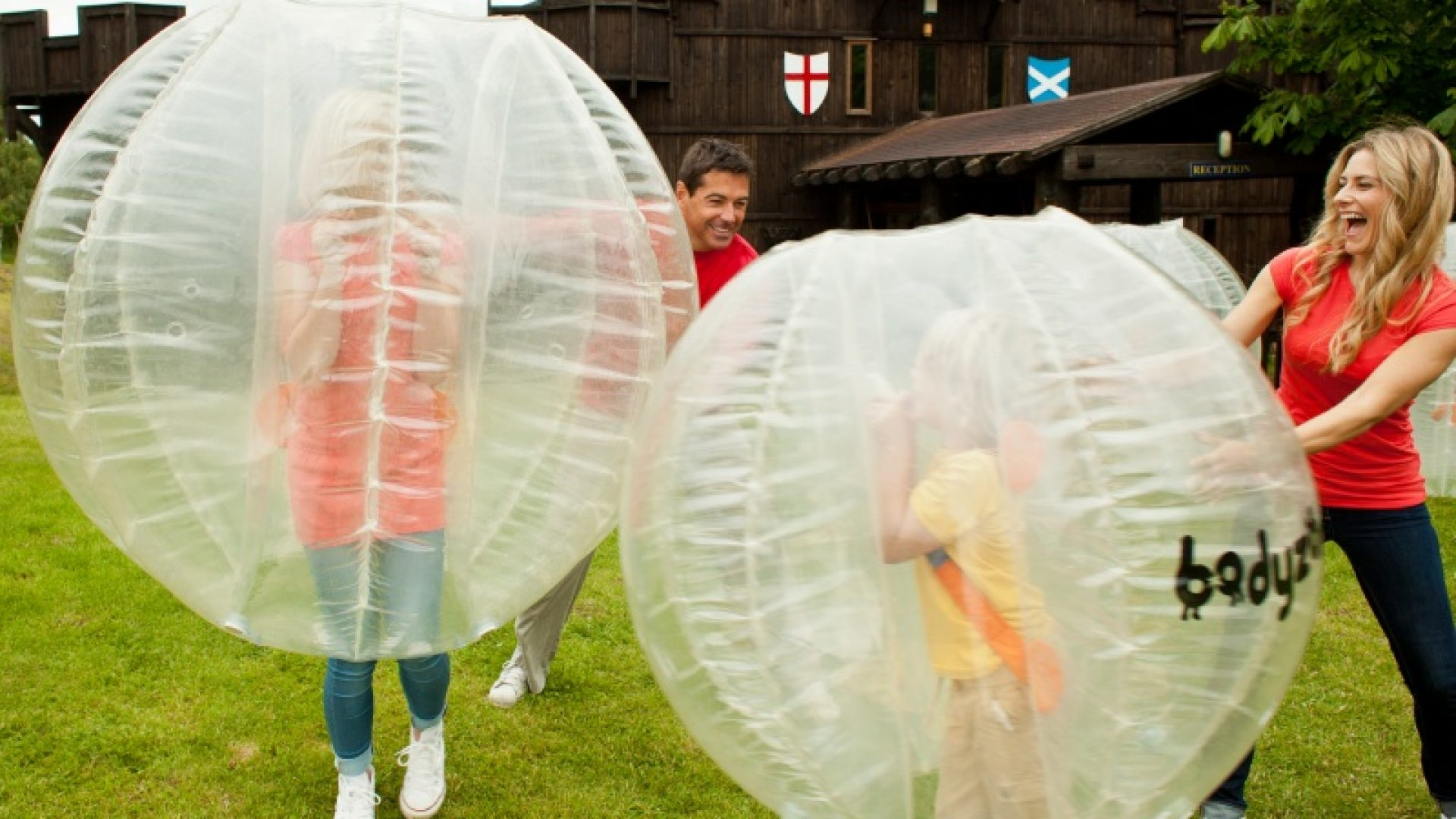 Bounce around in a Body Zorb